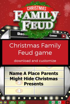 christmas family feud printable gamepamspartyprintables, Powerpoint templates