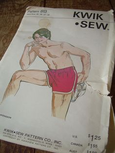 Did a little search for sewing for runners and this gem popped up!!! Lol! 1970's quik sew pattern for men's short shorts