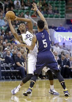 Memphis Grizzlies forward Zach Randolph (50) drives around Utah Jazz forward Trevor Booker, right, in the second quarter during an NBA basketball game Saturday, Nov. Description from dailyherald.com. I searched for this on bing.com/images