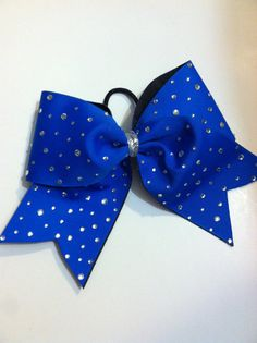 Royal Blue BLING 3Inch fused Cheer Bow by ThrowITBows on Etsy