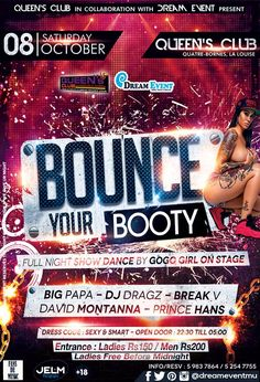 Bounce Your Booty Sat 08 Oct At Queen's Club .