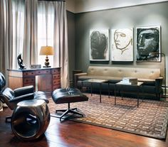 The Eames Lounger is arguably the most loved chair in modern bachelor pads!