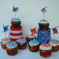 4th of July Cupcakes.1