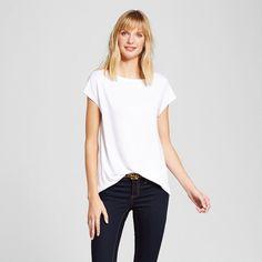 Women's T-Shirts Fresh White Opaque XL - Merona