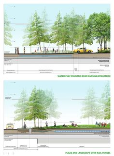 Landscape Architecture Section Drawings landscape architecture … | pinteres…