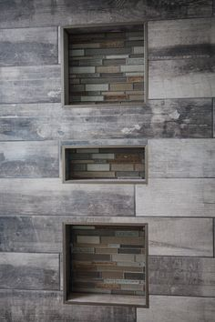 Amazing bathroom Walk in Shower featuring York wood manor tile color birch tree and Crystal Shores Random strip Mosaic from Dal tile granite bench with full enclosed glass walls home by Neuhaven Developmentshttp://floorright.ca/