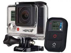 Câmera Filmadora GoPro Hero3+ Black Edition - 12MP Filma em Full HD 4k com Wi-Fi Embutido