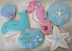 FantaSea Life... Seahorse, Sand Dollar and Starfish Cookies