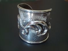 Chased and Repoussed Cuff Bracelet - plays-with-fire.blogspot.com