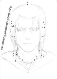 How to draw itachis face