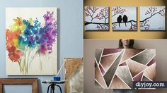 Need some cheap and easy ideas for decorating your blank walls? Think simple and quick DIY wall art, and check out these 36 awesome ideas to learn how. From artistic modern canvases to rustic chic looks for your vintage farmhouse style, you are sure to find one or more cool projects to add to your w