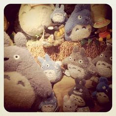totoro. try it with felt roving