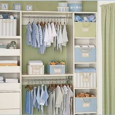 closet idea. Organizing the Nursery 101: 10 Tips to Conquer It