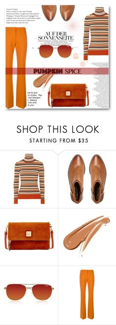 """""""Jack O'"""" by tauriel25 ❤ liked on Polyvore featuring JoosTricot, Dune, Dooney & Bourke, Quay, Victoria, Victoria Beckham, pumpkinspice, pumkin and fall2017"""