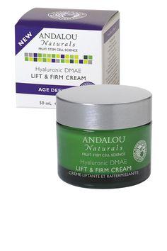 Andalou Naturals BTS Essential: Hyaluronic DMAE Lift & Firm Cream #andalounaturals #backtoschool #pintowin