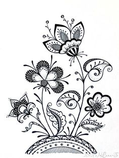 #zentangle tangle flowers