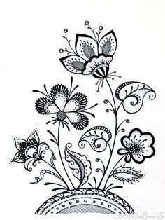 #zentangle tangle flowers
