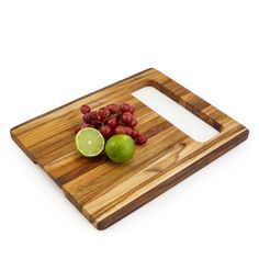 Teak  Cutting Board with Cut-Out Handle