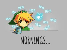 There's nothing good about mornings...unless you're talking about this 100% cotton tee! Get the Mornings... t-shirt only at TeeTurtle!