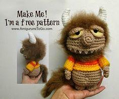 2000 Free Amigurumi Patterns: The Unnamed Monster - Free crochet pattern from Sharon Ojala