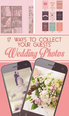 17 Ways To Collect Your Guests' Wedding Photos + How to Create Your Wedding Hashtag from @weddingwire