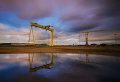Belfast Cranes by Lukasz Maksymiuk Belfast City, Crane, Wind Turbine, Celtic, Ireland, Fantasy, History, Country, Building