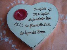 Weiteres - Herz mit Spruch als Geschenk für Kommunion - ein Designerstück von Bastelimperium bei DaWanda
