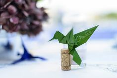 Origami Bird Wine Cork Place Cards  Set of 10 by MAKEforeverYoung, $25.00