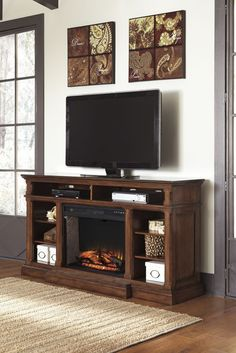 Gaylon TV Stand with Fireplace