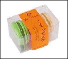 Francois Payard's box of three Parisian macarons