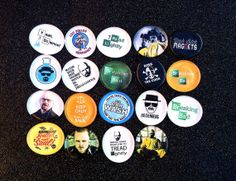 Breaking Bad set of 6 Magnets. Glass wafer by CustomMadeMagnets, $7.75