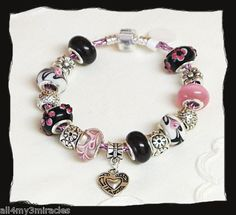 Style & colors looks cute but this is not Pandora. Not one charm is in the Pandora catalog. Imitation cute for a little girl.