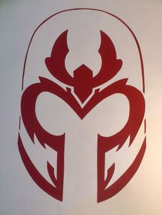 Magneto's Helmet Paper Cut by Inbarigami on Etsy