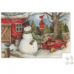 Snowman Heart & Home Puzzle. This charming Christmas snowman puzzle is a great snowy-day activity, fun and challenging for the whole family. I Love Winter, Winter Time, Current Catalog, Evil People, Middle Schoolers, Snowy Day, Some Image, Christmas Snowman, All Things Christmas