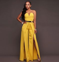 2017 Strapless full length jumpsuit sexy off the shoulder bodycon romper high split jumpsuit