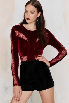 Sussex Velvet Bodysuit