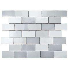 EliteTile Antiqua 3 x 6 Ceramic Subway Tile in BlueCream Finish: Craquele Soho Gray Grey Subway Tiles, Ceramic Subway Tile, Denver, Brick Look Tile, Tile Edge, House Tiles, Color Tile, Stone Tiles, Stone Mosaic