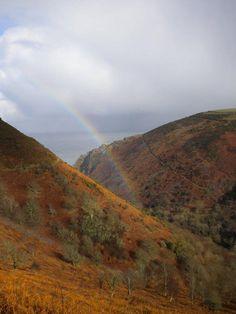 Rainbow in the Heddon Valley #Exmoor