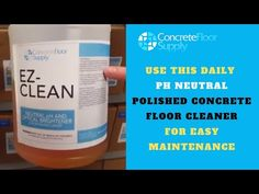 Use This Daily pH Neutral Polished Concrete Floor Cleaner for Easy Maintenance - YouTube