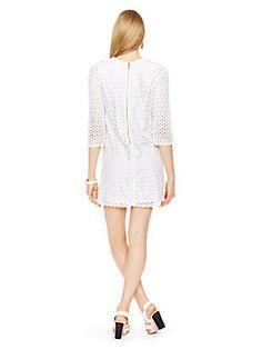 From Katespade Guipure Lace Ashby Dress Fresh White