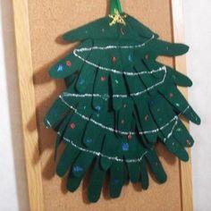 christmas using hand prints