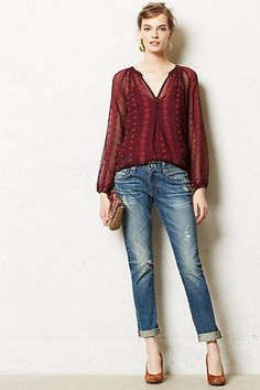 Neve Peasant Top #anthropologie in white