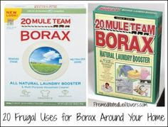20 Frugal Uses for Borax in your home and garden - many great cleaning tips!