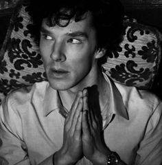 """Sherlock is checking you out. (gif)"" - Ooh, I love this. ;)"