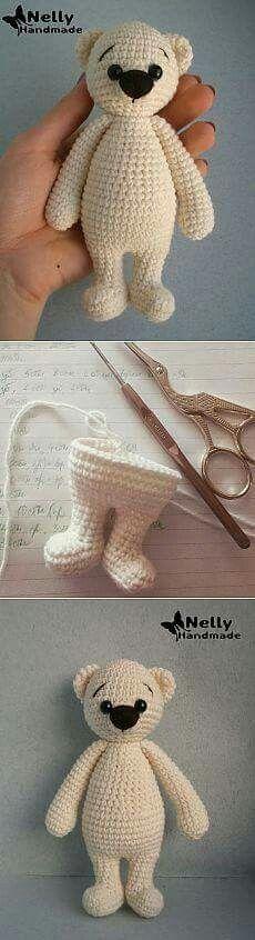 36 Ideas For Crochet Amigurumi Bear Ideas Crochet Amigurumi, Crochet Bear, Knit Or Crochet, Amigurumi Patterns, Amigurumi Doll, Crochet Crafts, Crochet Dolls, Yarn Crafts, Crochet Stitches