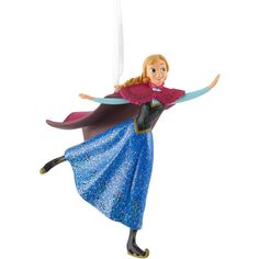 Disney Frozen Anna Skating Ornament ($13) ❤ liked on Polyvore featuring home, home decor, holiday decorations, disney ornaments, disney holiday decorations, disney, disney holiday decor and christmas tree ornaments