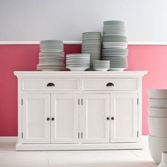 Store your extra dinnerware, flatware, and table linens in a buffet table or sideboard. Shop our great selection of stylish buffet tables and sideboards. White Sideboard Buffet, Solid Wood Sideboard, White Buffet, Dining Buffet, Large Sideboard, Buffet Cabinet, Cabinet Doors, Mahogany Sideboard, Buffet Tables