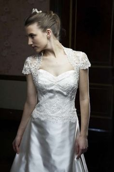 Cornelli lace wedding dress