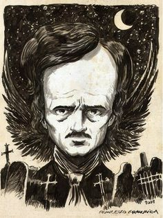 The One, The Only... E. A. Poe.   (Art by Francavilla).