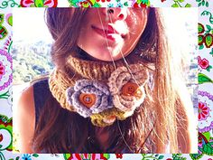 Ravelry: Romantic Crochet-Knitting Cowl pattern by Maria Manuel